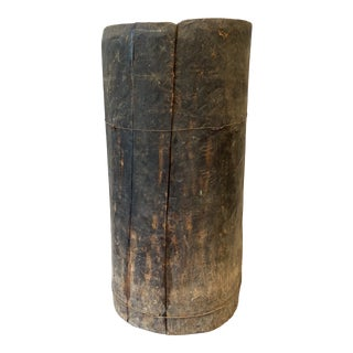 European Wabi Sabi Hollowed Tree Trunk Wood Planter For Sale