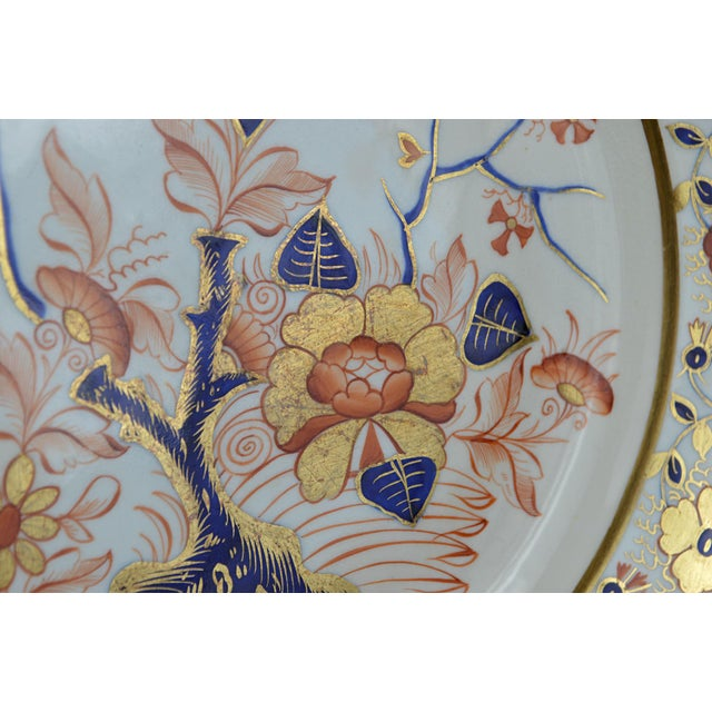 Early 19th Century Late Georgian Crown Derby Old Japan Porcelain Dinner Plate For Sale - Image 5 of 8