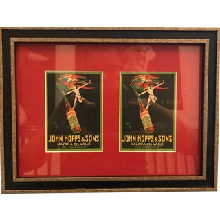 Original 1923 Italian Art Deco Postcards (Framed) John Hopps For Sale