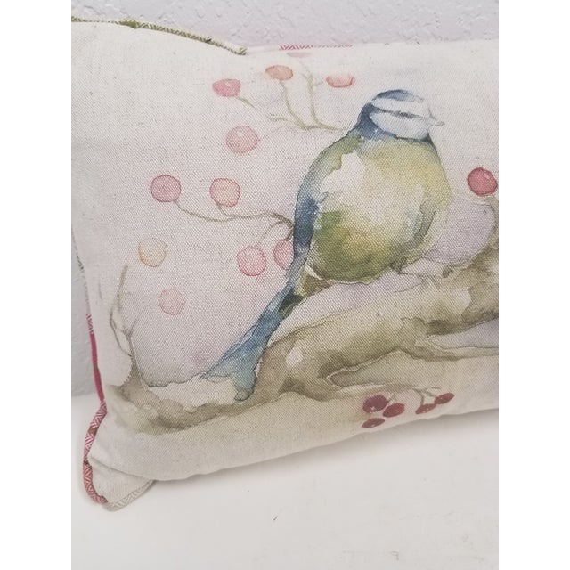 Two Birds With Berries Pillow - Made in Wale This colorful pillow was made in Wales, U.K., by a small cottage...