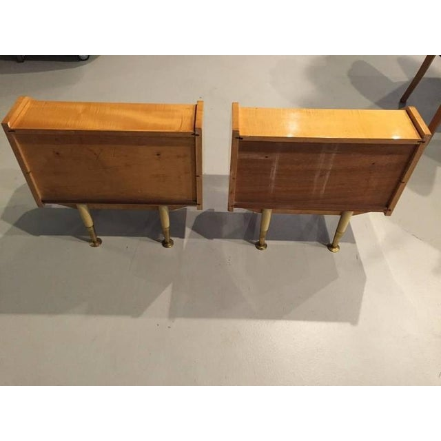 Gold French Sycamore Night Stands - A Pair For Sale - Image 8 of 8