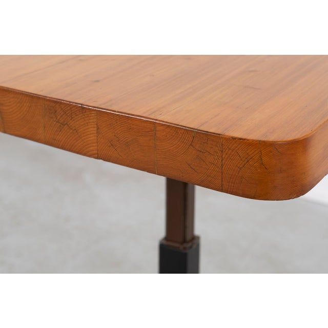 1960s Les Arcs Adjustable Square Table by Charlotte Perriand For Sale - Image 5 of 11