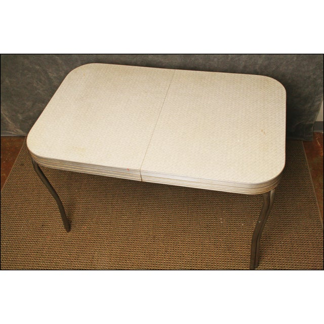 Mid-Century Modern White Formica Dinette Table - Image 12 of 12