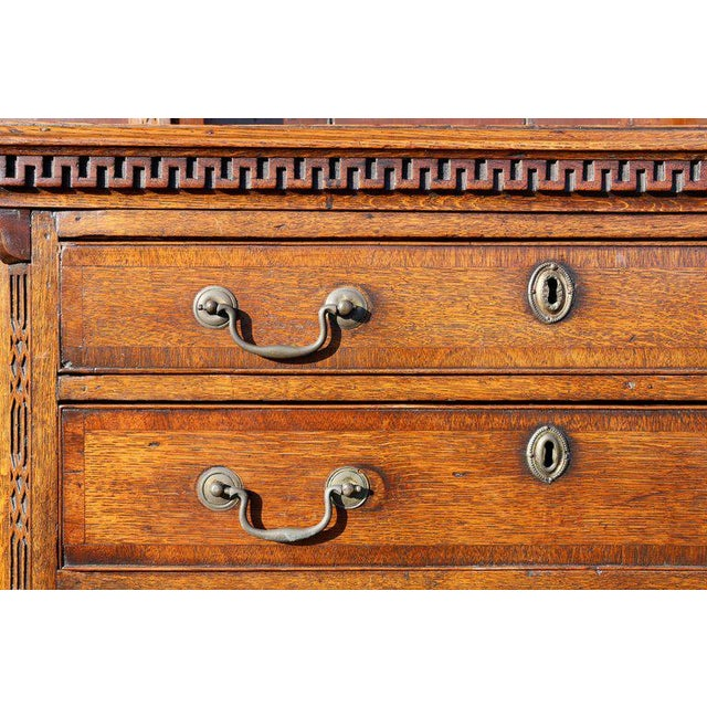 George III Oak And Inlaid Cupboard/ Dresser For Sale - Image 4 of 10