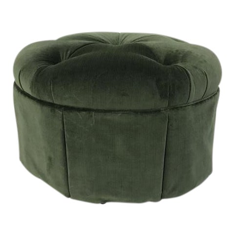Highland House Cheryl Skirted Ottoman For Sale