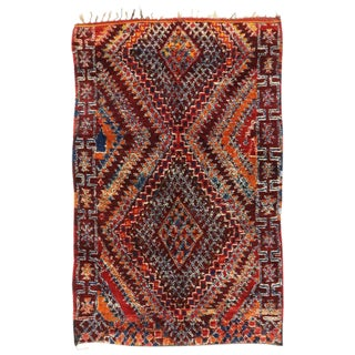 1980s Berber Moroccan Rug - 6′7″ × 10′ For Sale