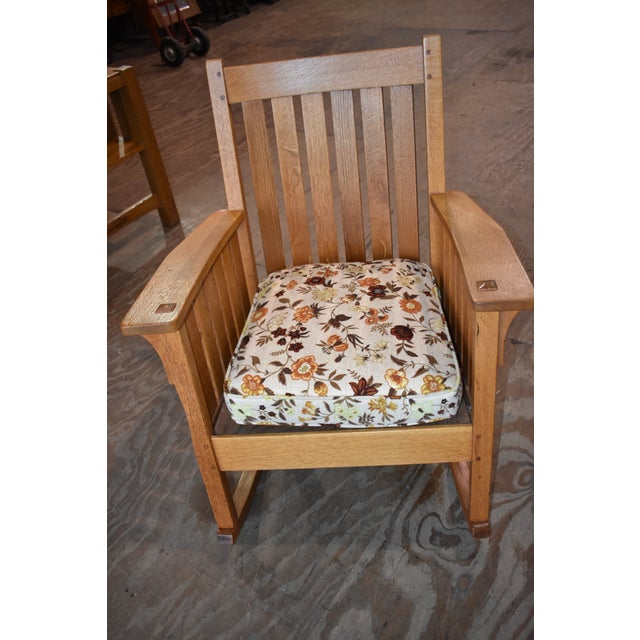 L Jg Stickley Furniture Mission Arts And Crafts Oak Rocker Rocking