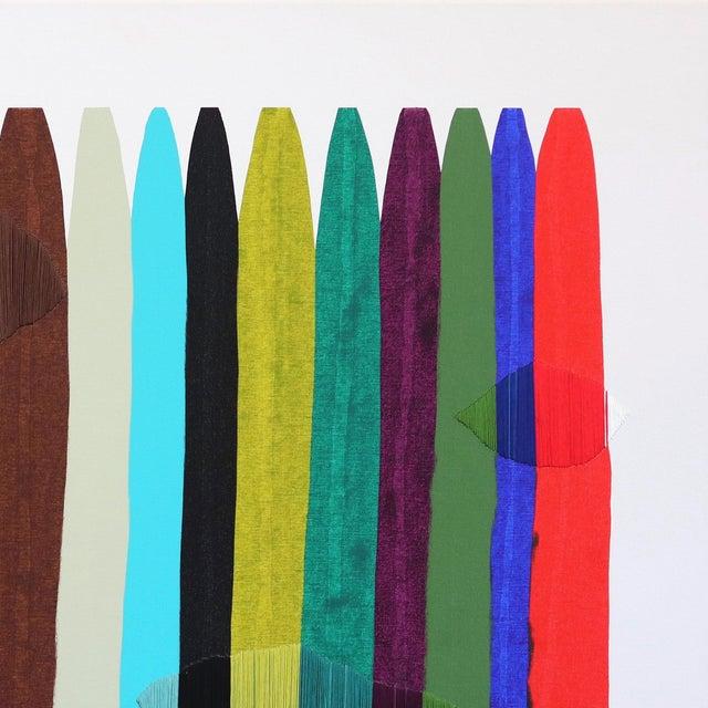 "Abstract ""Fils I Colors Cccxciii"" Original Artwork by Raul De La Torre For Sale - Image 3 of 9"