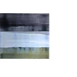 "Susan English ""Mike's Field No.1"" Abstract Painting on Paper Horizontal For Sale"