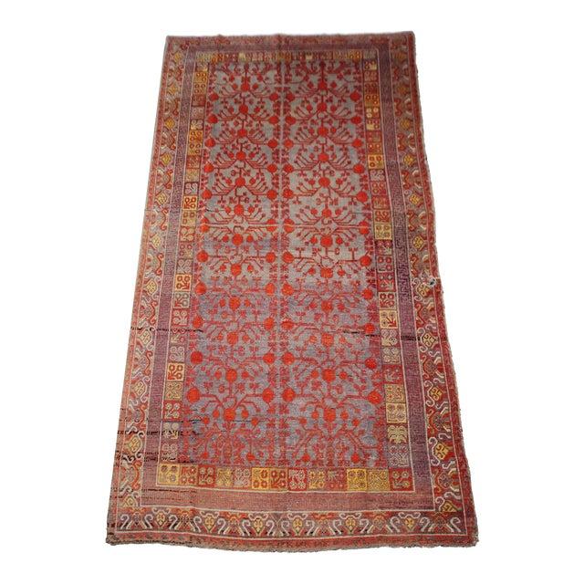 """Antique Khutan Rug-8'x15'5"""" For Sale"""