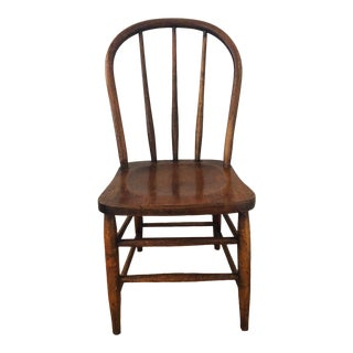 Vintage Wooden Farmhouse Chair For Sale