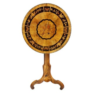 Victorian Marquetry and Brass-Mounted Tilt-Top Table