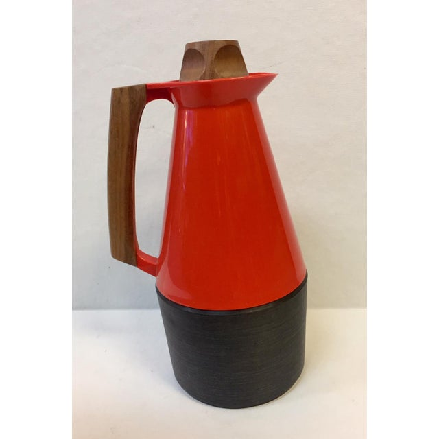 Mid-Century Modern Mid-Century Modern Carafe With Teak Accents For Sale - Image 3 of 10