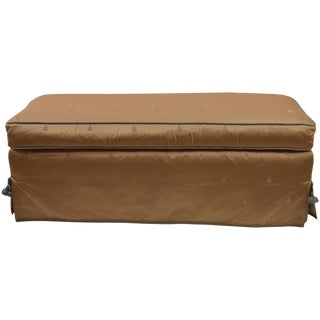 """Satin Upholseterd Bench With """"French Bee"""" Motif For Sale"""