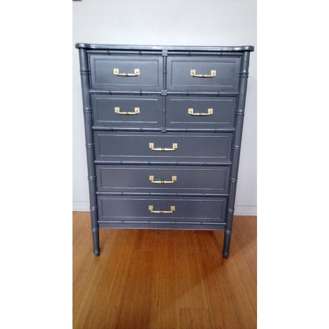 Henry Link Bali Hai Faux Bamboo Highboy Dresser - Image 2 of 7