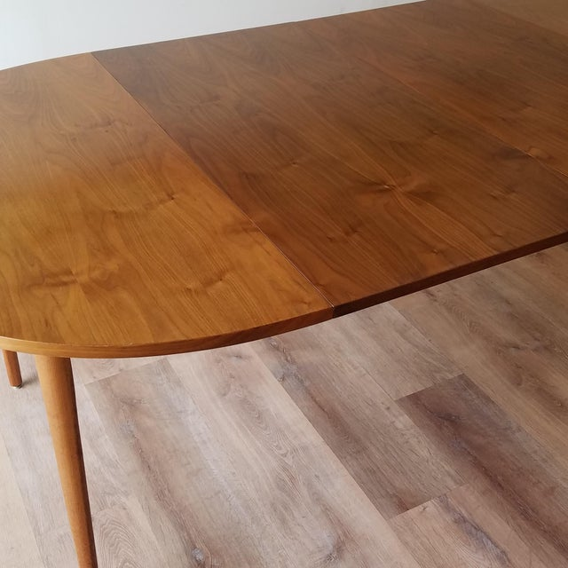 1963 Drexel Declaration Mid-Century Modern Walnut Dining Table For Sale In Seattle - Image 6 of 13