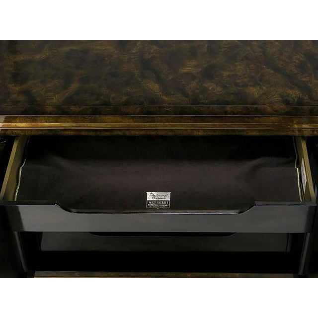Elegant Burled Amboyna and Brass Sideboard by Mastercraft For Sale In Chicago - Image 6 of 8
