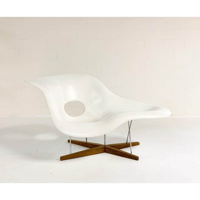 White Charles and Ray Eames La Chaise For Sale - Image 8 of 8
