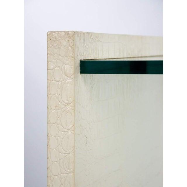 Wood Karl Springer Albino Python Glass Top Side Table For Sale - Image 7 of 13