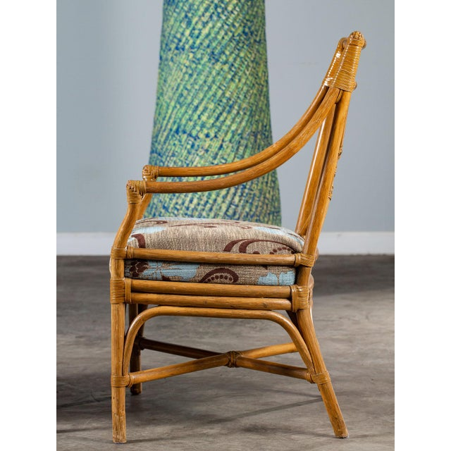 1970s Vintage McGuire Bamboo Target Design Chairs - a Pair For Sale - Image 9 of 13