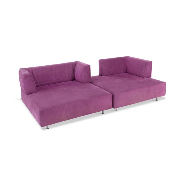 1990s Edra l'Homme Et La Femme Modular Sofa by Francesco Binfaré For Sale - Image 5 of 11