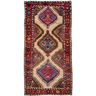 "Vintage Persian Hamadan Rug – Size: 2' 1"" X 4"" For Sale"