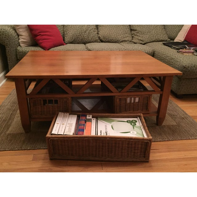 Ethan Allen Albee Coffee Table: Solid Wood Ethan Allen Coffee Table
