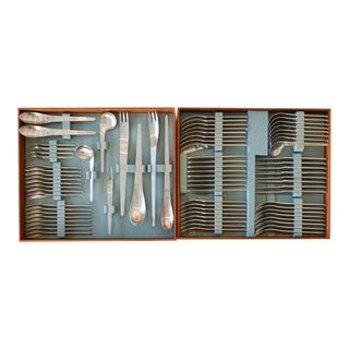 1969 Arne Jacobsen for Anton Michelsen Flatware Set - 77 Pieces