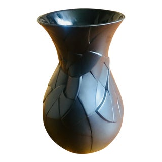 "Large Black ""Phases"" Vase by Rosenthal For Sale"