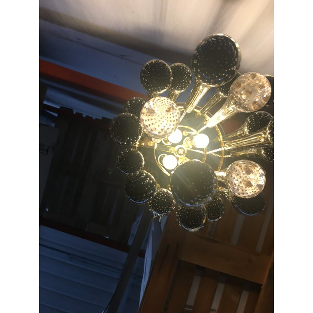 Murano Glass Big Drops Black and Gold Sputnik Chandelier For Sale - Image 10 of 12