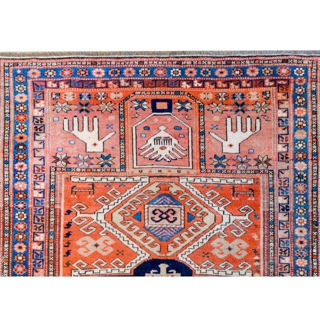 1910s Wonderful Early 20th Century Kazak Prayer Rug For Sale - Image 5 of 10