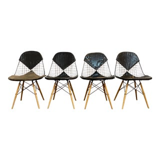 Eames 1950's Dkw-2 Chairs W/Original Bikini Covers, Set of 4 For Sale