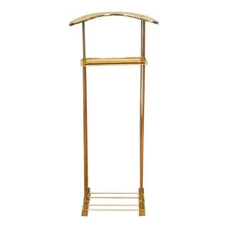 Vintage Modern Gentleman's Solid Brass Valet Stand For Sale