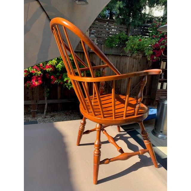 Modern 1950s Vintage Original Leopold Stickley Rockport Windsor Armchair For Sale - Image 3 of 13