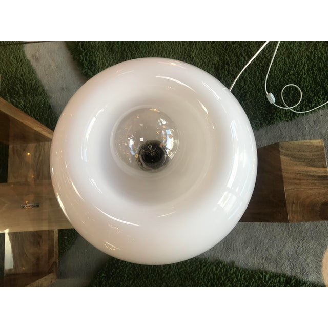 Murano Flos White Hand Blown Murano Glass Table Lamp For Sale - Image 4 of 10