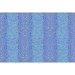 Zebra Palace Blue Linen Cotton Fabric, 6 Yards