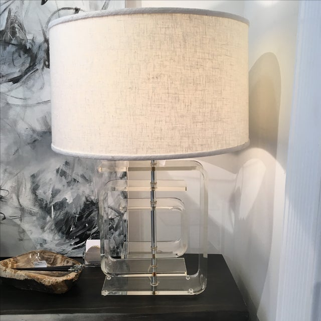 Vintage Lucite Lamp - Image 2 of 8