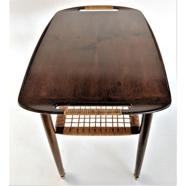 1960s Vintage Paoul Jensin for Selig Danish Modern Bar Cart For Sale - Image 9 of 13