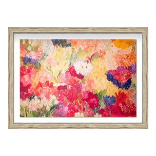 """Oliver Gal Large 'Claire Sower- Tuppence a Bunch' Framed Art 32"""" x 22"""" For Sale"""