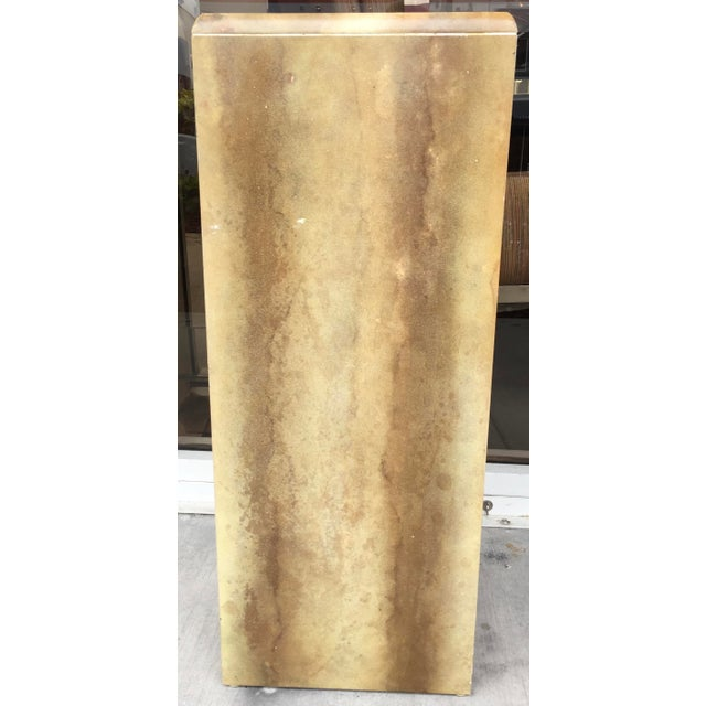 Faux Leather Finish Large Pedestal - Image 6 of 6