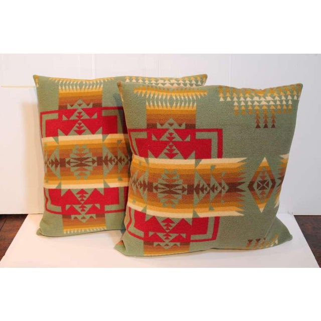 Adirondack Pair of Pendleton Camp Blanket Pillows For Sale - Image 3 of 4