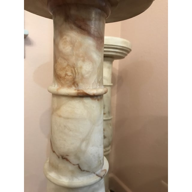 1950s Italian Pink Marble Pillars - a Pair For Sale - Image 4 of 8