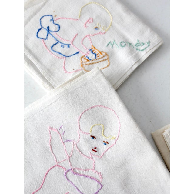 Embroidered 'Days Of The Week' Kitchen Towels