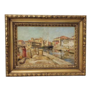Early 20th Century Dutch School Oil Painting on Masonite C.1930s For Sale