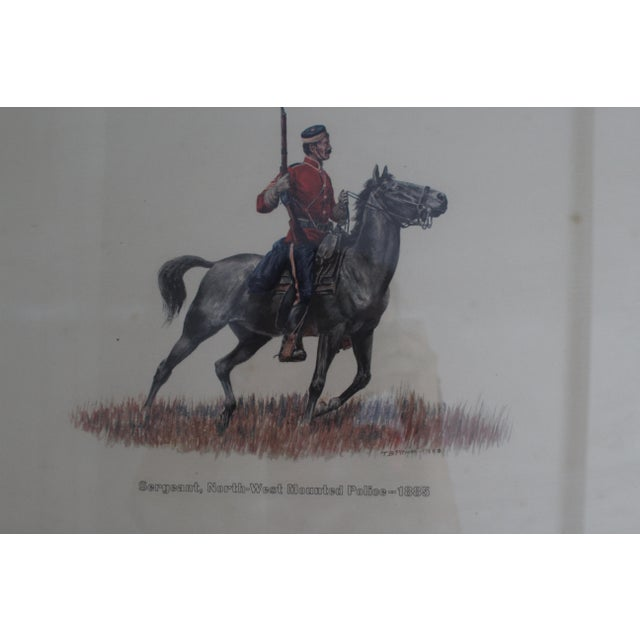 Traditional 1885 Redcoat Riding on Horse Framed Artwork For Sale - Image 3 of 4