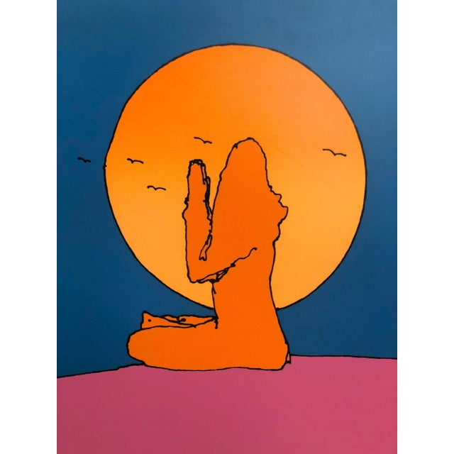 """Peter Max Peter Max """"Swamiji"""" Original Serigraph Signed Limited Edition 1971 For Sale - Image 4 of 10"""