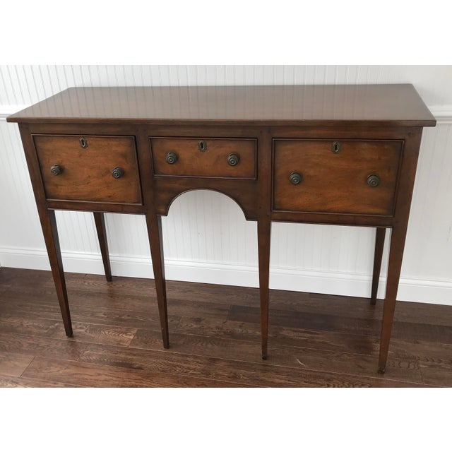 1950s Kittinger Colonial Williamsburg Mahogany Hepplewhite Sideboard For Sale - Image 13 of 13