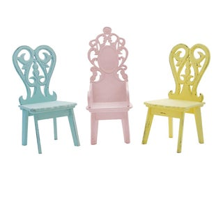Miniature Pastel Garden Chairs - Set of 3