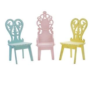 Miniature Pastel Garden Chairs - Set of 3