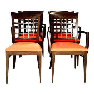 21st Century Italian Potocco for Roche Bobois Upholstered Dining Chairs- Set of 6 For Sale